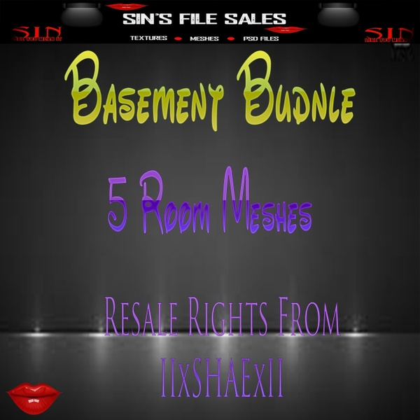 Basement Bundle *5 Room Meshes Included. *Limited Time Only*