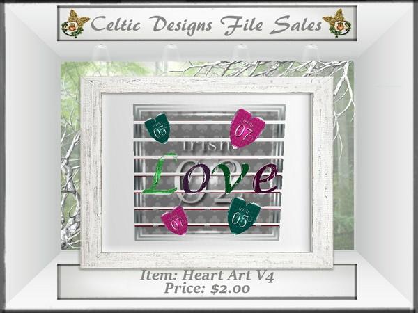 Cd Heart Art V4 Mesh
