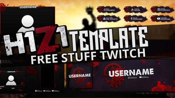 FREE TWITCH OVERLAY TEMPLATE - H1Z1 THEME