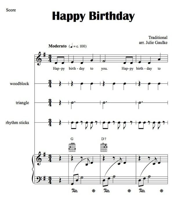 Happy Birthday PVG with Orff