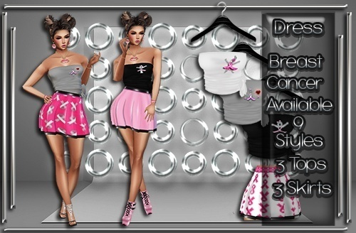 Breast Cancer Skirt & Top Set Catty Only!!!