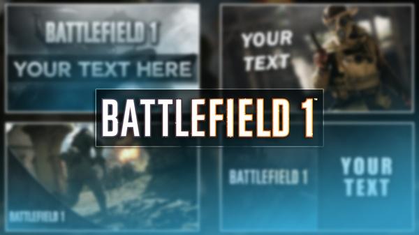 Battlefield 1 Thumbnail Pack