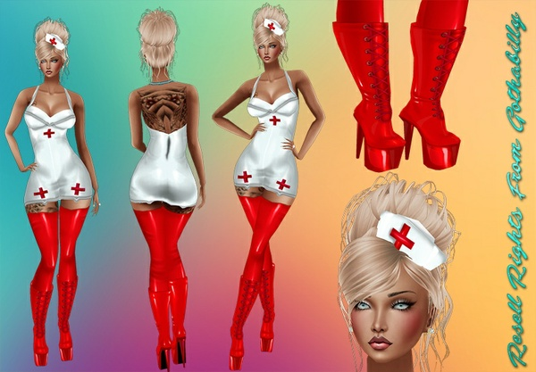 CosPlay Nurse PVC Outfit Catty Only!!!