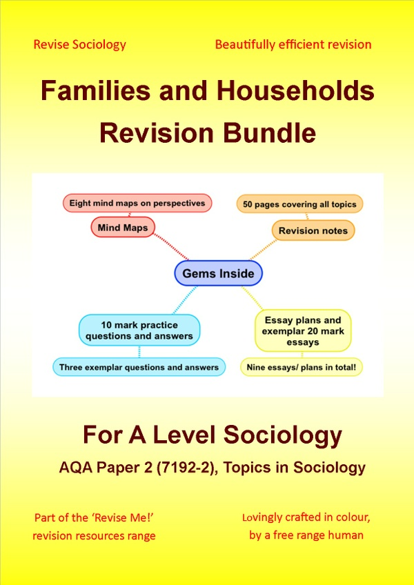 A Level Sociology Families and Households Revision Bundle
