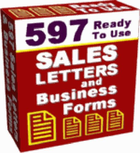 597 Ready to Use Sales Letters and Business Forms Including Resale Rights, Sales Page and Graphics