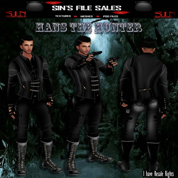 Man In Black Bundle *Hans The Hunter* SALE*