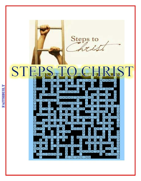 STEPS TO CHRIST Bible Puzzle Activities