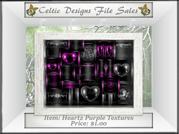 CD Heartz Purple Textures