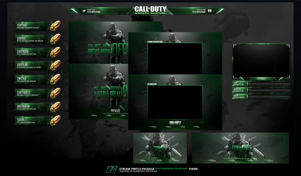 COD Modern Warfare remastered Twitch Package