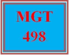 MGT 498 Week 1 Strategic Planning and Strategic Management