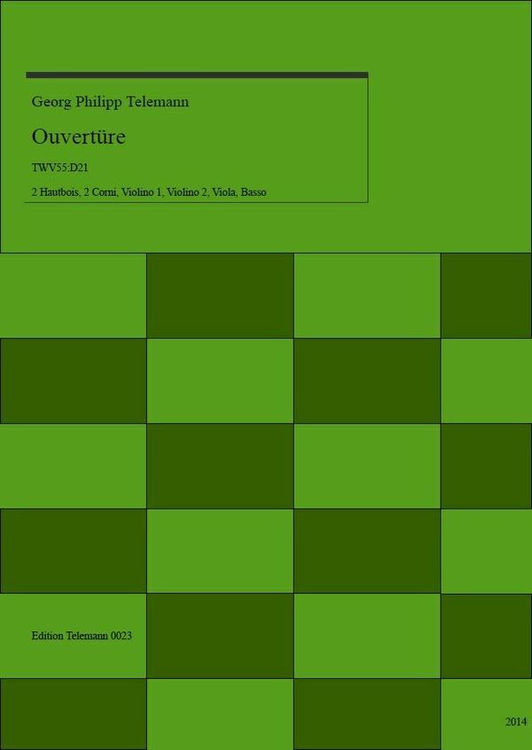 0023 Ouverture in D TWV55:D21