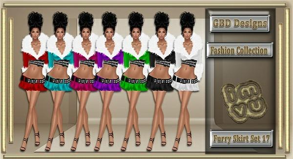 Furry Skirt Set 17 CATALOG ONLY!!
