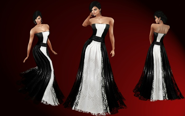 Black&White gown