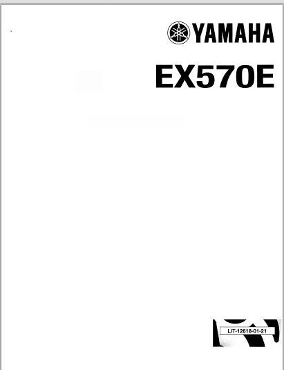 1987-1990 Yamaha Exciter EX570E Snowmoblile Workshop Service Repair Manual Download