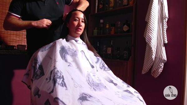 19 Marta: Long, bob, bowl, orange colour, tonsure, shaved