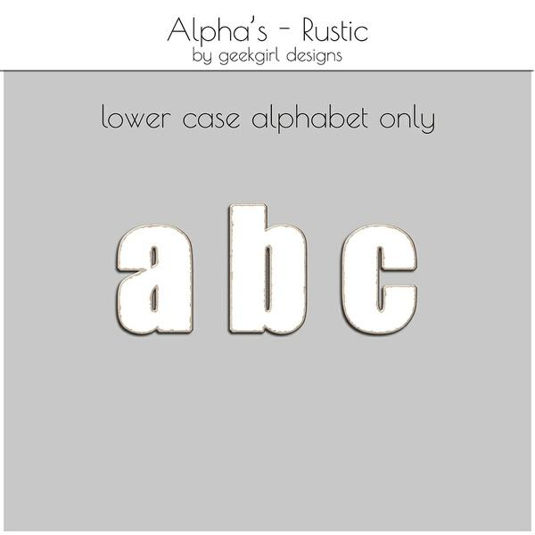 Rustic Alpha Set