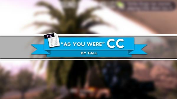 """As You Were"" CC"