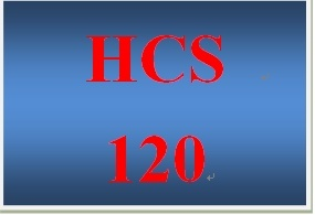 HCS 120 Week 3 Weekly Vocabulary Exercise Health Records and Patient-Related Information