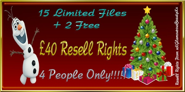 15 Limited Files + 2 Free Bundle Resell Rights!!!!