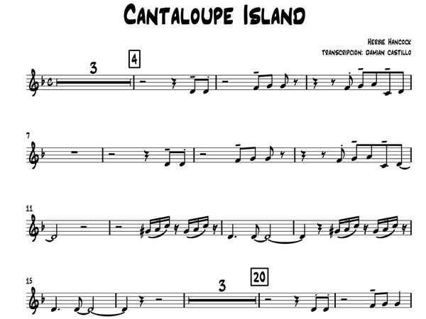 "Herbie Hancock - ""Cantaloupe Island"" - Sax alto."