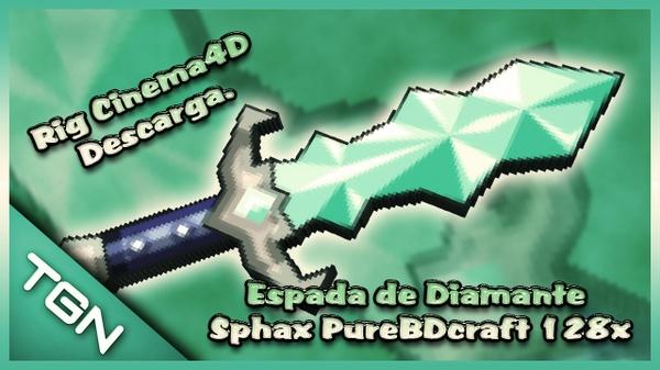 Espada de Diamante Sphax PureBDcraft 128x