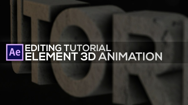 Element 3D Tutorial - Animating 3D Scenes.