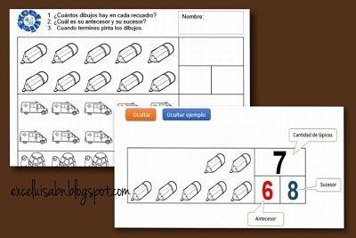 Generador de ejercicios con dibujos, para numeración.