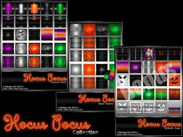 Hocus Pocus Texture Pack Collection-- $15.00
