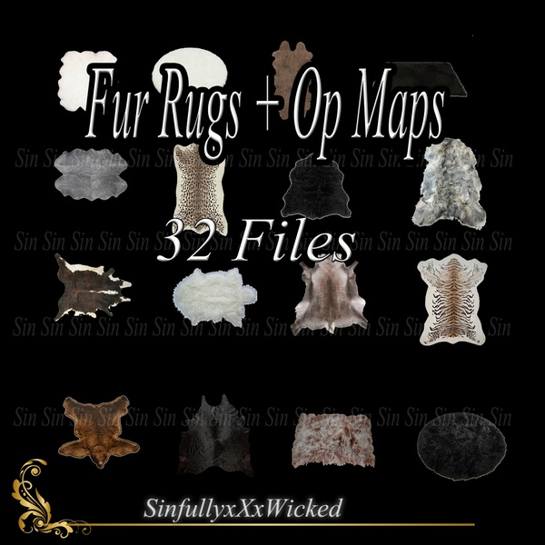 Fur Rugs + Op Maps (32 files)