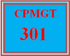 CPMGT 301 Week 1 Portfolio Management and Strategic Management Concepts and Organization