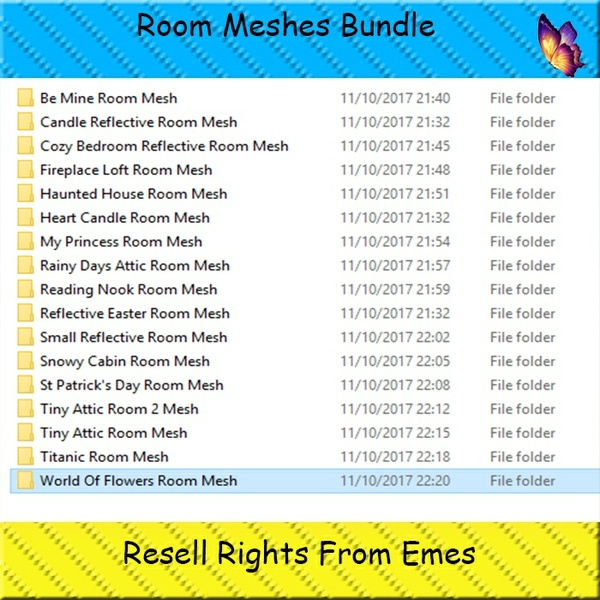 Room Meshes Bundle Catty Only!!!