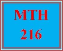 MTH 216 Week 1 MyMathLab® Study Plan for Week 1 Checkpoint