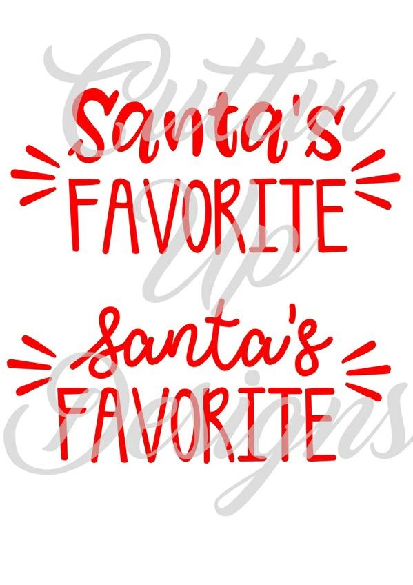 Santa's Favorite SVG Cutting File for cutting machines