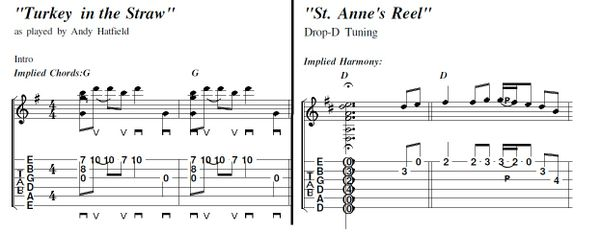 2-songs! Turkey in the Straw and Saint Anne's Reel--Andy Hatfield