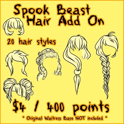 Spook Beast HAIR Add On