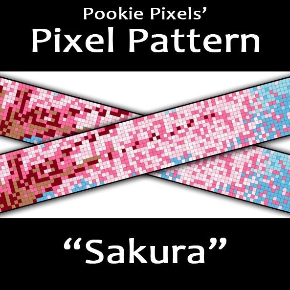 Sakura Pixel Pattern
