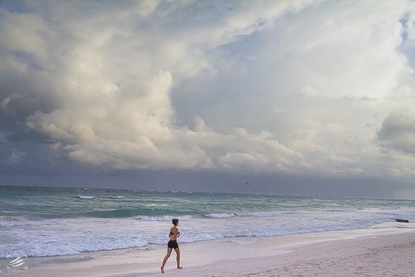 Beach Landscape Tulum Lightning