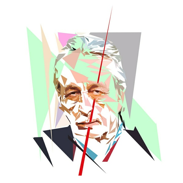 Portrait de Louis Althusser - 300 dpi - format 15 cm x 15 cm