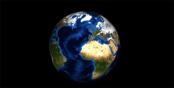 Rotation Earth in Alpha Channel