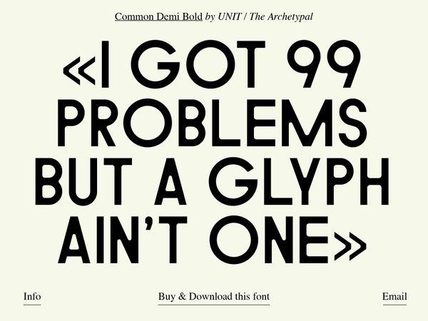 Common Typeface