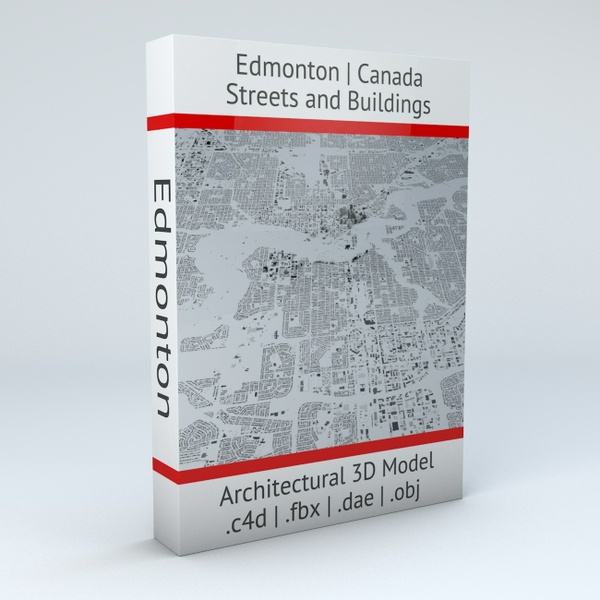 Edmonton Streets and Buildings Architectural 3D Model