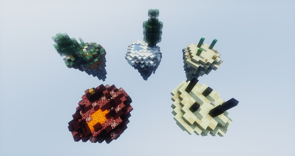 5 Skyblock Islands