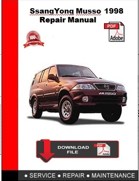 SsangYong Musso 1998 Repair Manual