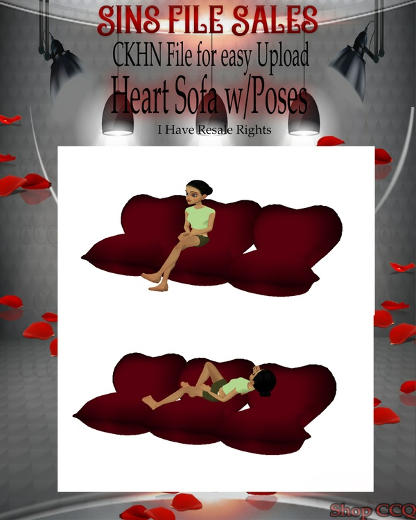 ♥Heart Sofa w/Poses Mesh*CHKN File