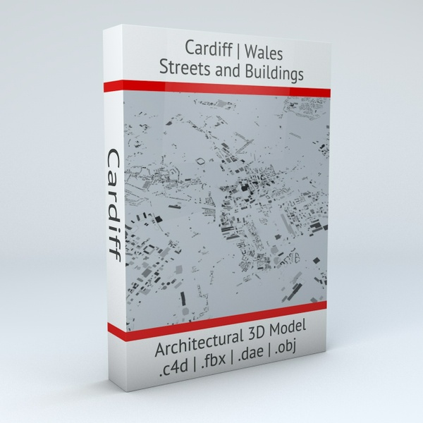 Cardiff Streets and Buildings Architectural 3D Model