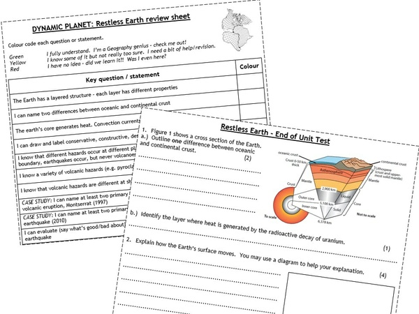 Edexcel GCSE Geography B - Bumper Revision Pack - Review Sheets & End of Unit Tests