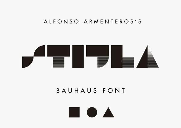 STIJLA Bauhaus-like font
