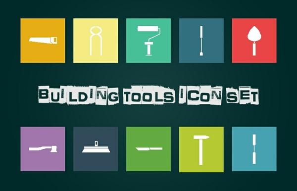 Building Tools Icon Set