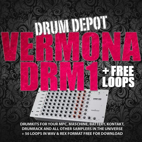 Drum Depot: Vermona DRM - 5 drumkits & 50 free loops