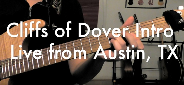 Eric Johnson - Cliffs of Dover : intro Chord tab (Live from Austin)
